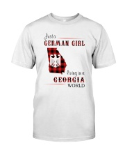 GERMAN GIRL LIVING IN GEORGIA WORLD Classic T-Shirt front
