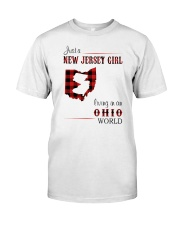 JERSEY GIRL LIVING IN OHIO WORLD Classic T-Shirt front