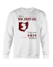 JERSEY GIRL LIVING IN OHIO WORLD Crewneck Sweatshirt thumbnail