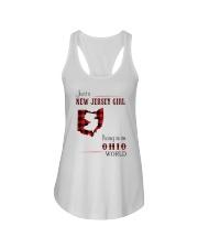 JERSEY GIRL LIVING IN OHIO WORLD Ladies Flowy Tank thumbnail