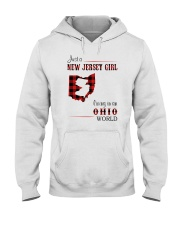JERSEY GIRL LIVING IN OHIO WORLD Hooded Sweatshirt thumbnail