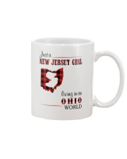 JERSEY GIRL LIVING IN OHIO WORLD Mug thumbnail