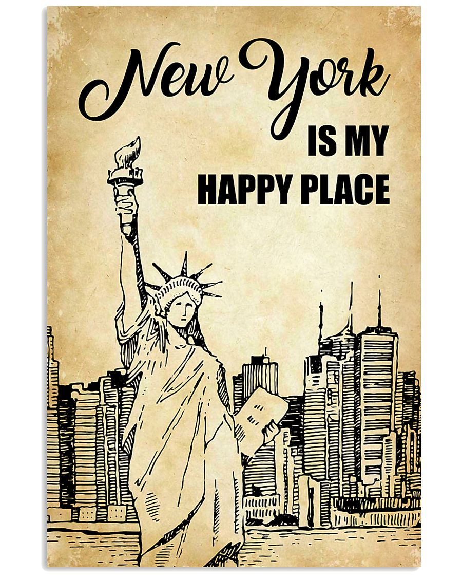 NEW YORK IS MY HAPPY PLACE 11x17 Poster