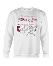 CALIFORNIA OREGON THE LOVE FATHER AND SON Crewneck Sweatshirt thumbnail