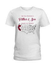 CALIFORNIA OREGON THE LOVE FATHER AND SON Ladies T-Shirt thumbnail