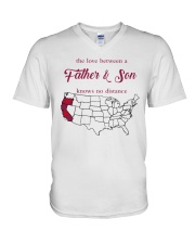 CALIFORNIA OREGON THE LOVE FATHER AND SON V-Neck T-Shirt thumbnail