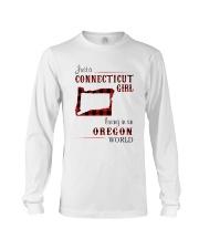 CONNECTICUT GIRL LIVING IN OREGON WORLD Long Sleeve Tee thumbnail