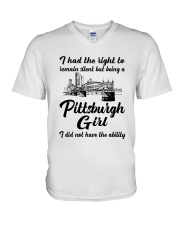 PITTSBURGH GIRL I DIDN'T NOT HAVE THE ABILITY V-Neck T-Shirt thumbnail
