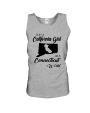 JUST A CALIFORNIA GIRL IN A CONNECTICUT WORLD Unisex Tank thumbnail