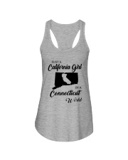JUST A CALIFORNIA GIRL IN A CONNECTICUT WORLD Ladies Flowy Tank thumbnail