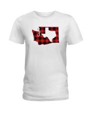 TEXAS IN WASHINGTON WORLD Ladies T-Shirt thumbnail