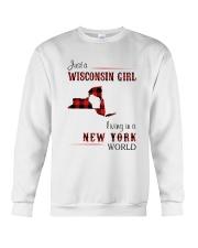 WISCONSIN GIRL LIVING IN NEW YORK WORLD Crewneck Sweatshirt thumbnail