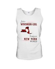 WISCONSIN GIRL LIVING IN NEW YORK WORLD Unisex Tank thumbnail