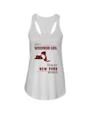 WISCONSIN GIRL LIVING IN NEW YORK WORLD Ladies Flowy Tank thumbnail