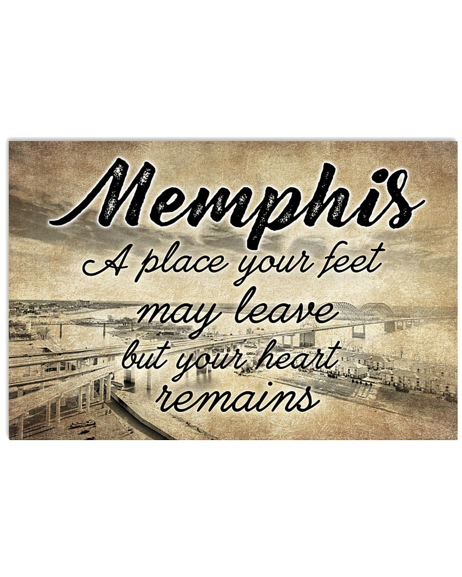 MEMPHIS A PLACE YOUR HEART REMAINS 24x16 Poster
