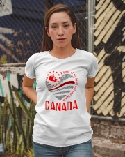 A PIECE OF MY HEART AND SOUL LIVES IN CANADA Ladies T-Shirt apparel-ladies-t-shirt-lifestyle-03