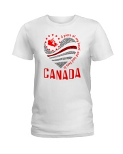 A PIECE OF MY HEART AND SOUL LIVES IN CANADA Ladies T-Shirt front