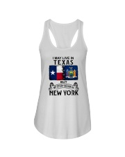 LIVE IN TEXAS BEGAN IN NEW YORK Ladies Flowy Tank thumbnail