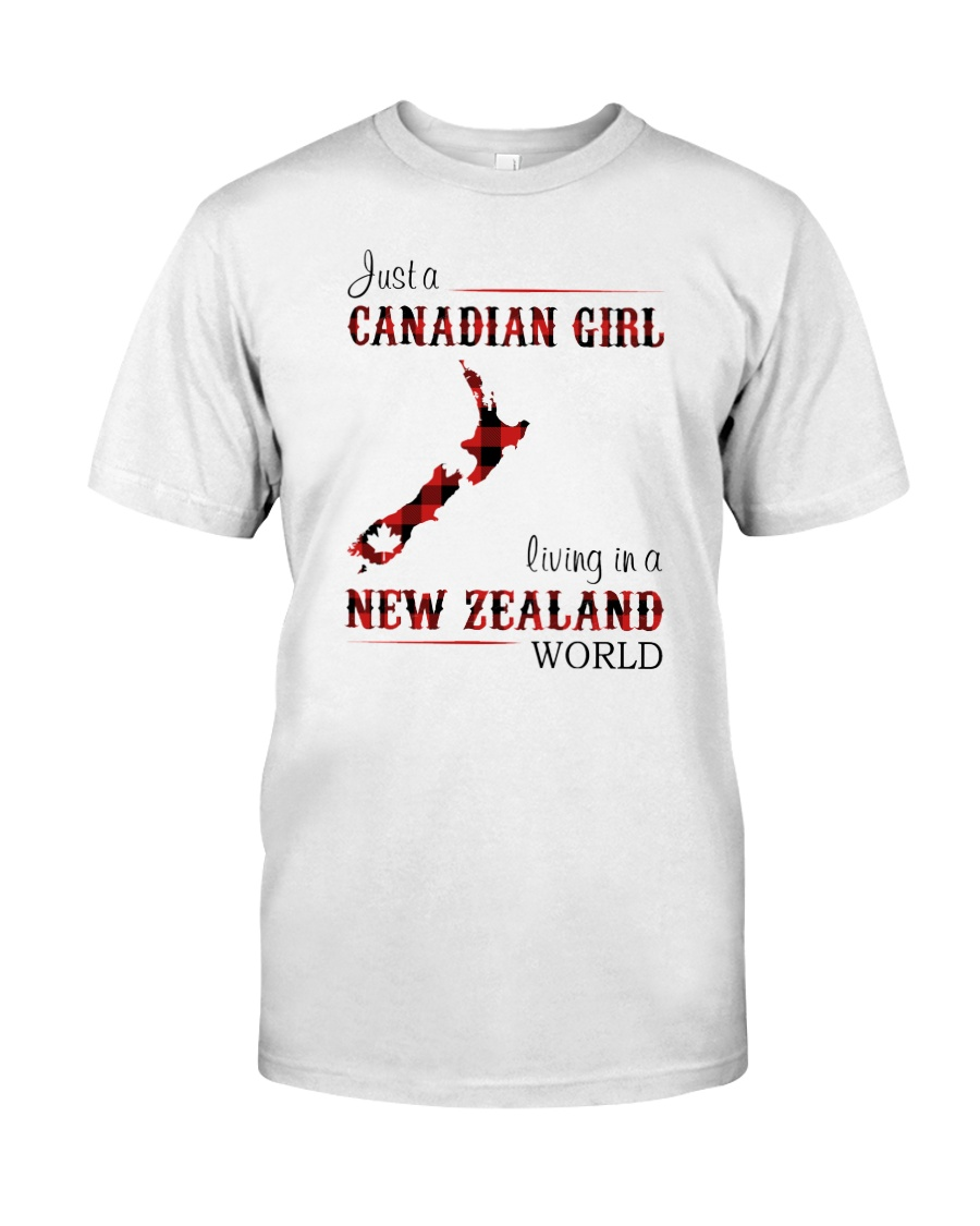 CANADIAN GIRL LIVING IN NEW ZEALAND WORLD Classic T-Shirt