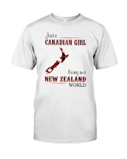 CANADIAN GIRL LIVING IN NEW ZEALAND WORLD Classic T-Shirt front