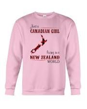 CANADIAN GIRL LIVING IN NEW ZEALAND WORLD Crewneck Sweatshirt thumbnail