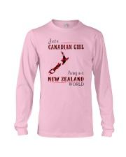 CANADIAN GIRL LIVING IN NEW ZEALAND WORLD Long Sleeve Tee thumbnail