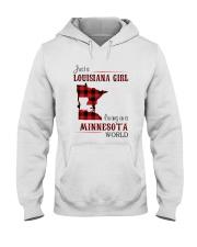 LOUISIANA GIRL LIVING IN MINNESOTA WORLD Hooded Sweatshirt thumbnail