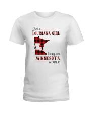 LOUISIANA GIRL LIVING IN MINNESOTA WORLD Ladies T-Shirt thumbnail