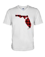 WEST VIRGINIA IN FLORIDA WORLD V-Neck T-Shirt thumbnail