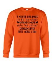 THIS CRAZY CHICKEN MOM Crewneck Sweatshirt thumbnail