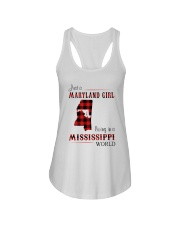 MARYLAND GIRL LIVING IN MISSISSIPPI WORLD Ladies Flowy Tank thumbnail