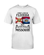 LIVE IN FLORIDA BEGAN IN MISSOURI Classic T-Shirt tile
