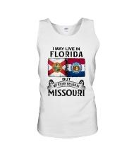 LIVE IN FLORIDA BEGAN IN MISSOURI Unisex Tank thumbnail