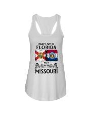 LIVE IN FLORIDA BEGAN IN MISSOURI Ladies Flowy Tank thumbnail