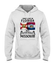 LIVE IN FLORIDA BEGAN IN MISSOURI Hooded Sweatshirt thumbnail