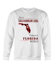 SALVADORAN GIRL LIVING IN FLORIDA WORLD Crewneck Sweatshirt thumbnail