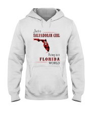 SALVADORAN GIRL LIVING IN FLORIDA WORLD Hooded Sweatshirt thumbnail