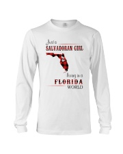 SALVADORAN GIRL LIVING IN FLORIDA WORLD Long Sleeve Tee thumbnail