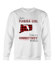 FLORIDA GIRL LIVING IN CONNECTICUT WORLD Crewneck Sweatshirt thumbnail