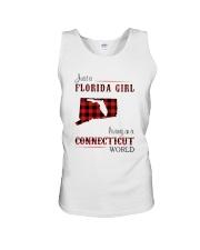 FLORIDA GIRL LIVING IN CONNECTICUT WORLD Unisex Tank thumbnail