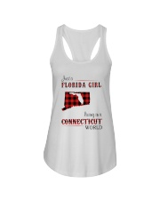 FLORIDA GIRL LIVING IN CONNECTICUT WORLD Ladies Flowy Tank thumbnail