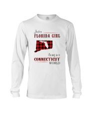 FLORIDA GIRL LIVING IN CONNECTICUT WORLD Long Sleeve Tee thumbnail