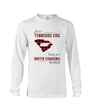 TENNESSEE GIRL LIVING IN SOUTH CAROLINA WORLD Long Sleeve Tee thumbnail