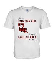 CANADIAN GIRL LIVING IN LOUISIANA WORLD V-Neck T-Shirt thumbnail