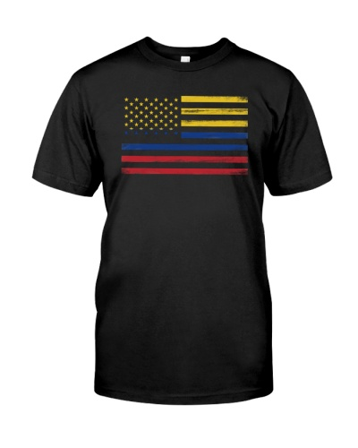 AMERICAN FLAG AND COLOMBIA