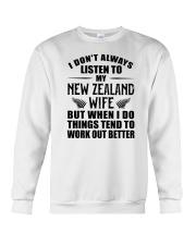 LISTEN TO MY NEW ZEALAND WIFE Crewneck Sweatshirt thumbnail