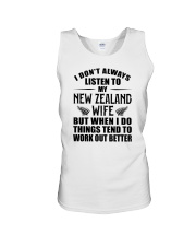 LISTEN TO MY NEW ZEALAND WIFE Unisex Tank thumbnail