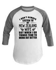 LISTEN TO MY NEW ZEALAND WIFE Baseball Tee thumbnail
