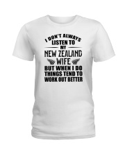 LISTEN TO MY NEW ZEALAND WIFE Ladies T-Shirt thumbnail