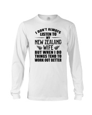 LISTEN TO MY NEW ZEALAND WIFE Long Sleeve Tee thumbnail